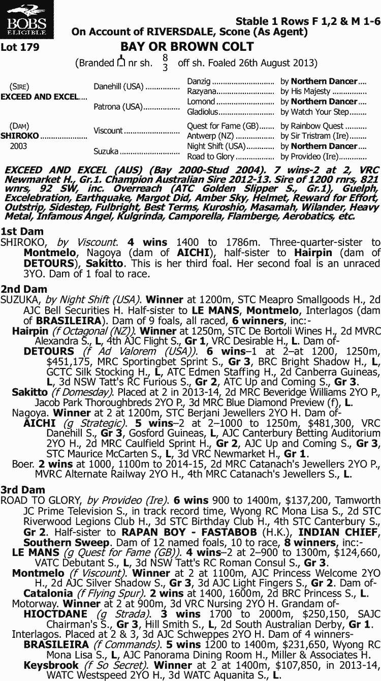 Inglis 2015 Australian Easter Yearling Sale Lot 179 Exceed And Andrew Smith Regular Fit Jeans Biru 31 Excel X Shiroko