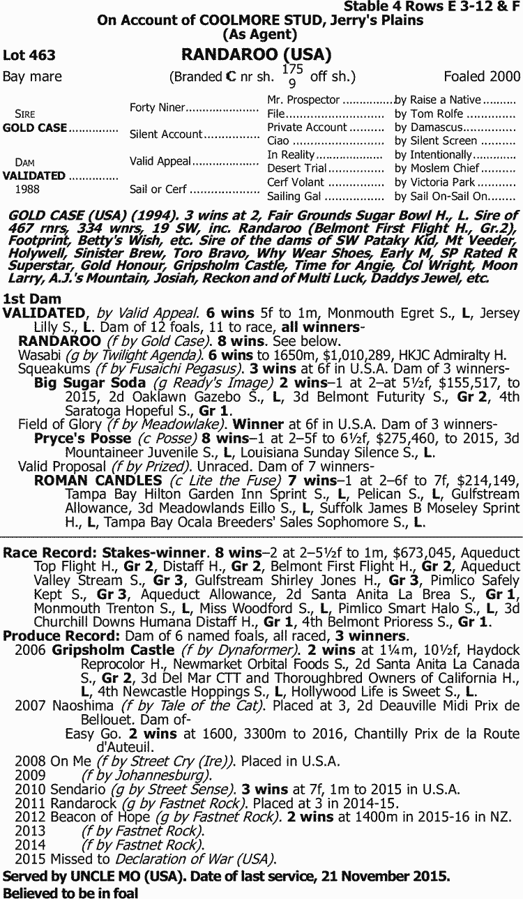 e831988326bf Inglis - 2016 Australian Broodmare and Weanling Sale - Lot 463 ...