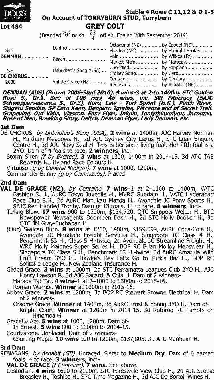 picture regarding Bachelor Bracket Printable Nick known as Inglis - 2016 Clic Yearling Sale - Ton 484, Denman x De